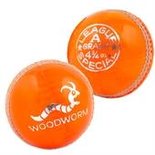 6 x Woodworm Junior Special 4 3/4oz Cricket Balls - Image 1