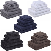Homegear Egyptian Style Cotton Bath Towel 6Pc Set
