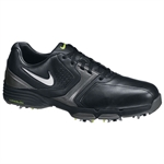 Nike Golf Lunar Saddle Golf Shoes BLACK/SILVER