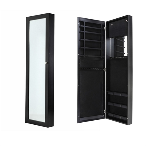 Door and wall mounted mirrored jewellery cabinet the - Armoire a bijoux avec miroir ...