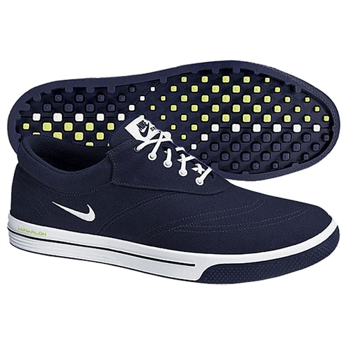 nike mens lunar swingtip canvas golf shoes navy green