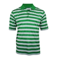 Woodworm Pro Striped Polo Green
