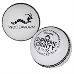 Woodworm Supreme County 5 1/2oz Cricket Ball WHITE