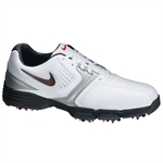Nike Golf Lunar Saddle Golf Shoes WHITE/SILVER