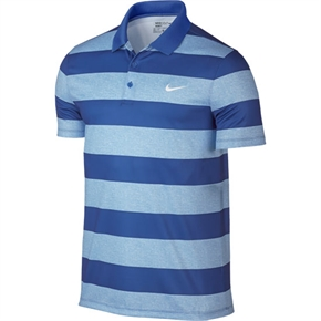 Nike Golf Modern Fit Victory Bold Stripe Polo Blue
