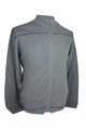 Ashworth Mens Full Zip Sweater With Fine Stripes