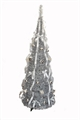 Homegear 5ft Tinsel Decorated X'mas Tree - Silver