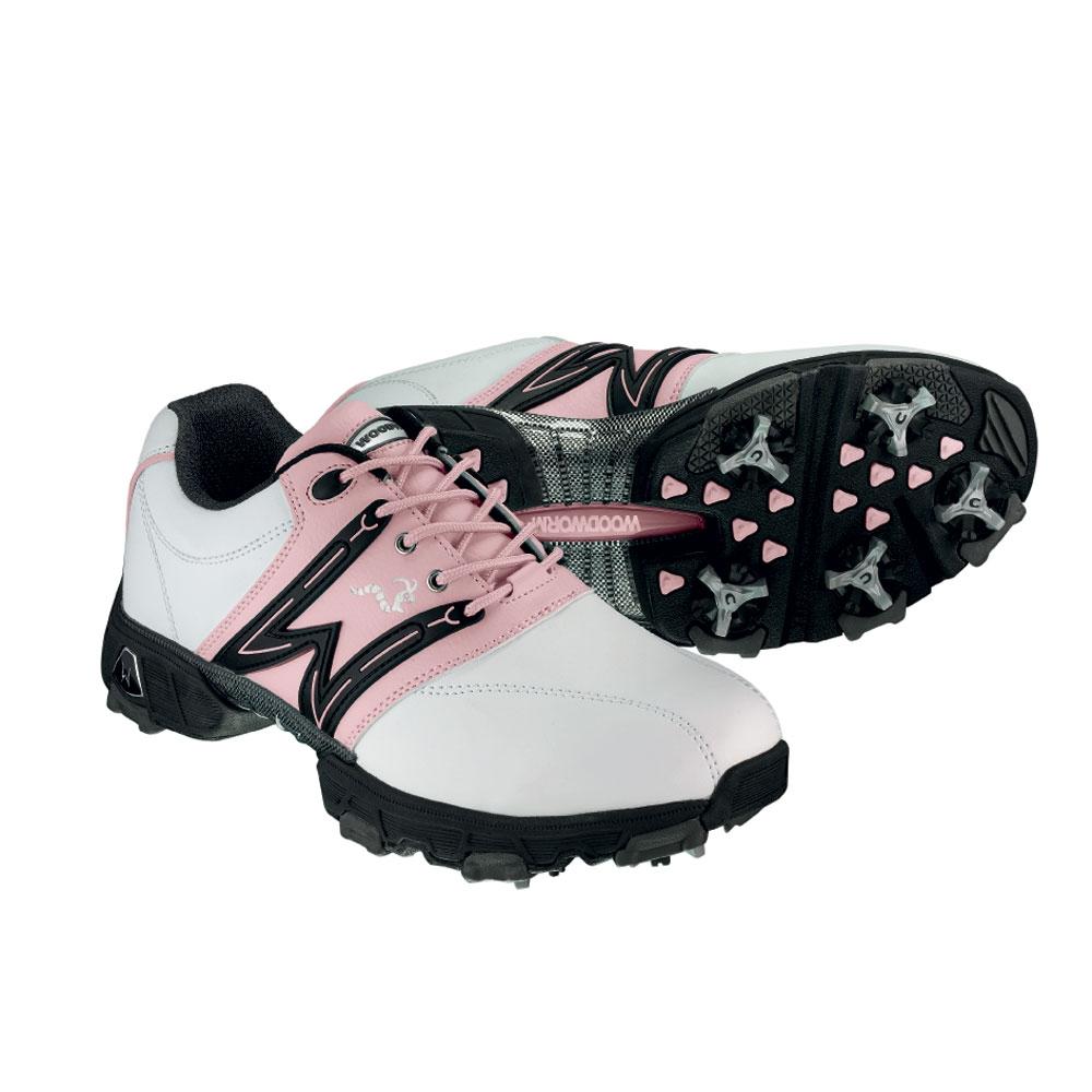 woodworm golf golf shoes pink
