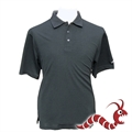 Woodworm Golf Plain Polo Shirt BLACK