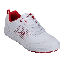 Woodworm Surge Golf Shoes - White/Red