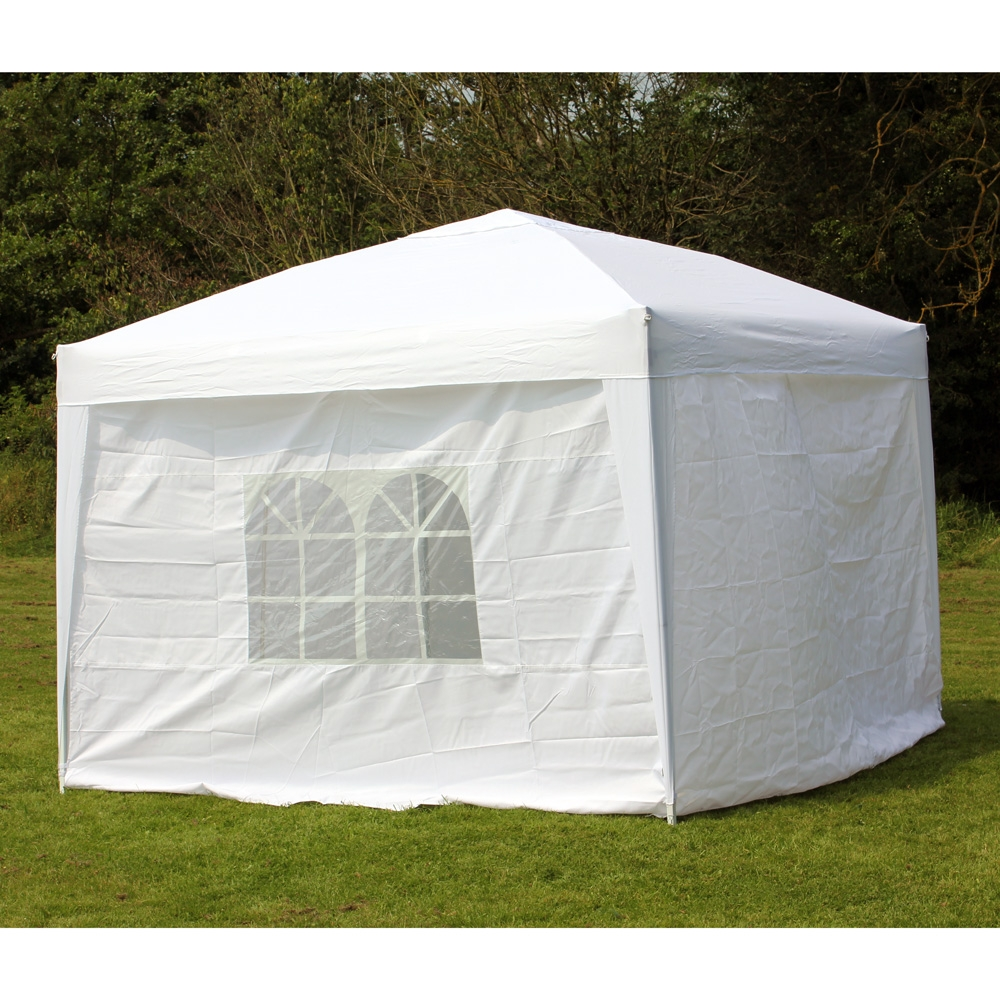 10 X 10 Palm Springs Ez Pop Up Canopy Gazebo Tent With 4