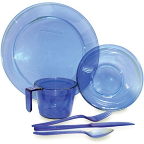 Lexan Camping Cups and Plates Set