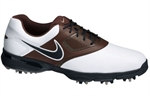 Nike Golf Heritage Golf Shoes WHITE/BROWN