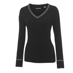 Ashworth Ladies Cotton Sweater w/Cable
