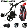 Stowamatic GXT Electric Golf Trolley + Free Bag