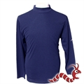 Woodworm Golf Long Sleeve Mock Shirt NAVY