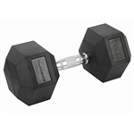 Confidence Fitness 22.5kg Rubber Hex Dumbbell