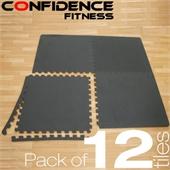 12x Confidence Interlocking Floor Tiles 48 sq ft - Image 1