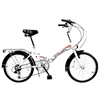 Stowabike Folding City V2 Compact Bike Red/White
