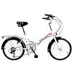 Stowabike Folding City V2 Compact Bike Red/White
