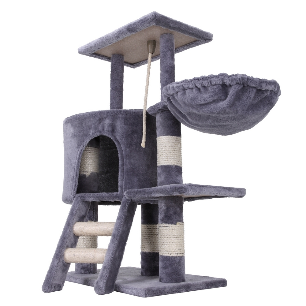 confidence pet deluxe cat kitten tree scratch post activity centre climbing toy ebay. Black Bedroom Furniture Sets. Home Design Ideas