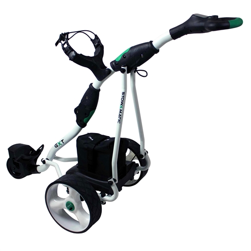 stowamatic gxt electric golf trolley white. Black Bedroom Furniture Sets. Home Design Ideas