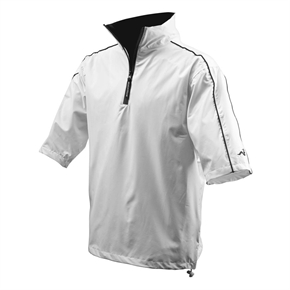 Woodworm Golf Waterproof Half Sleeve Top WHITE