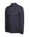 Adidas Mens ClimaLite Long Sleeve Stripe Polo