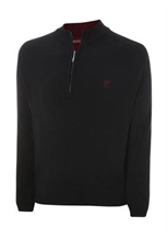 Ashworth Mens Half-Zip Pattern Sweater