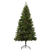 Homegear 6ft Pre-lit Artificial Christmas Tree - Image 1