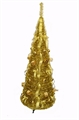 Homegear 5ft Tinsel Decorated X'mas Tree - Gold