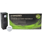 16 Forgan Golf Titanium Golf Balls PERSONALISED
