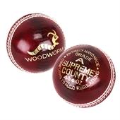 6 x Woodworm Junior Supreme 4 ¾oz  Cricket Ball - Image 1