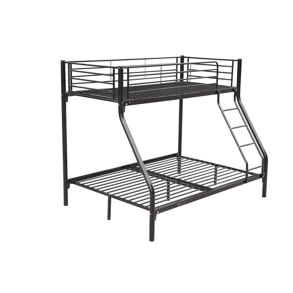 homegear triple sleeper metal frame bunk bed home furniture childern kids ebay. Black Bedroom Furniture Sets. Home Design Ideas