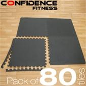 80x Confidence Interlocking Floor Tiles 320 sq ft - Image 1