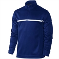Nike Golf 1/2 Zip Therma Fit Cover Up - Navy/White