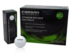 24 Forgan Golf Titanium Distance Golf Balls WHITE