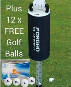Forgan Golf Practice Shag Bag Plus FREE Golf Balls