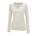 Ashworth Ladies V-Neck Merino Wool Sweater