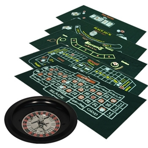 CQ Poker 6-in-1 At Home Casino Set