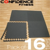 16x Confidence Interlocking Floor Tiles 64 sq ft - Image 1